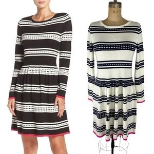 Eliza J Fit and Flare Knit Sweater Dress Size M